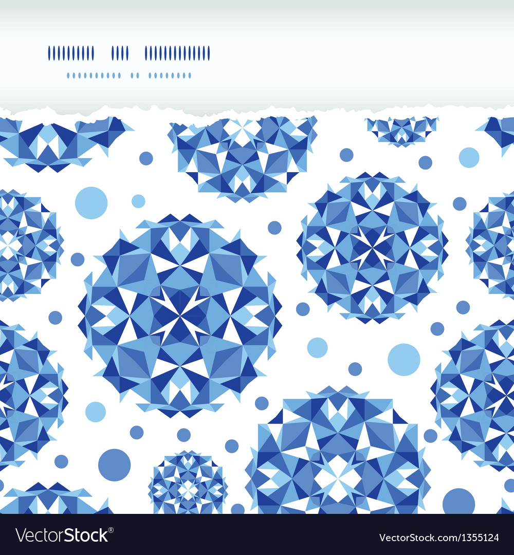 Blue abstract circles square seamless pattern vector | Price: 1 Credit (USD $1)
