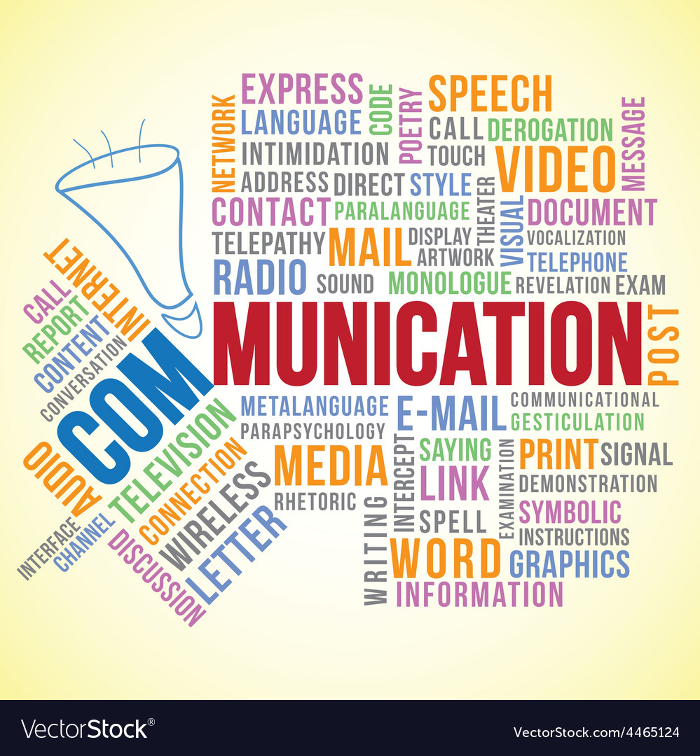 Communication word vector | Price: 1 Credit (USD $1)