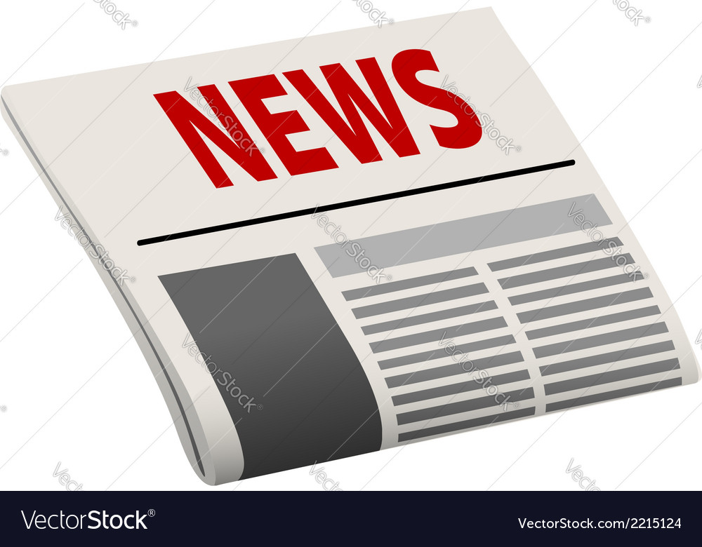 Folded angled cartoon newspaper vector | Price: 1 Credit (USD $1)