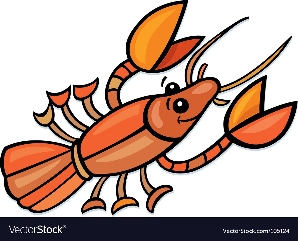 Funny crayfish vector | Price: 1 Credit (USD $1)