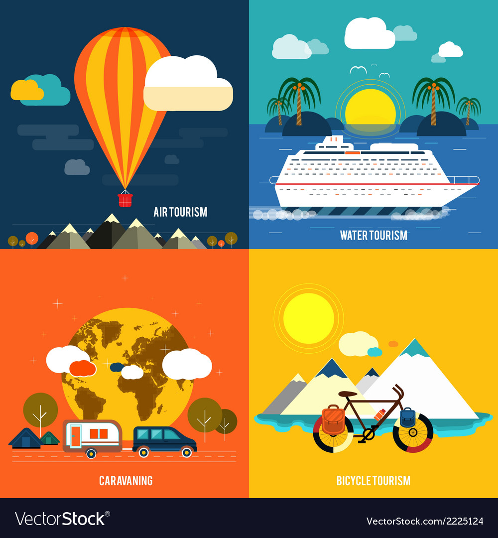 Icons set of traveling and planning a summer vector | Price: 1 Credit (USD $1)