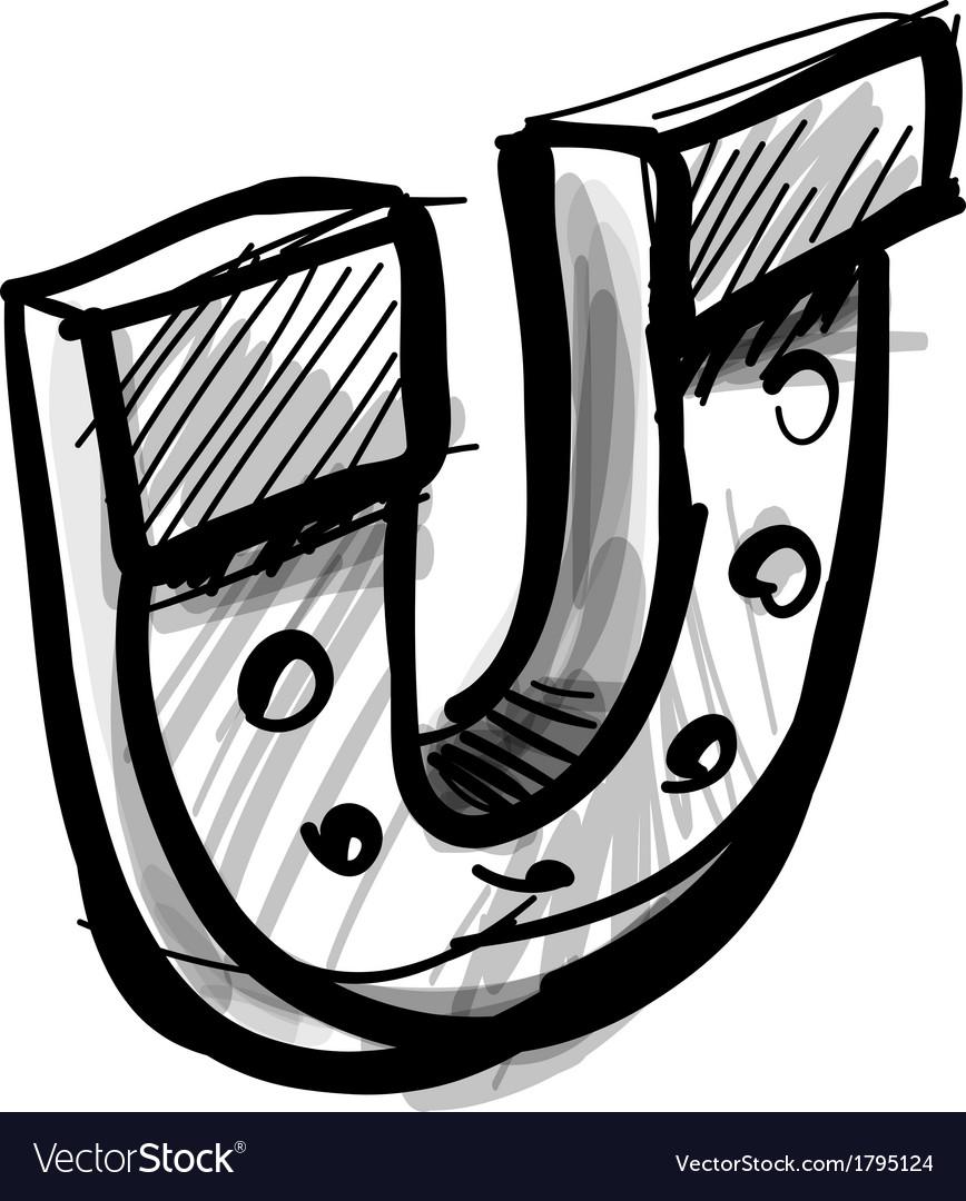 Lucky horseshoe cartoon icon vector | Price: 1 Credit (USD $1)