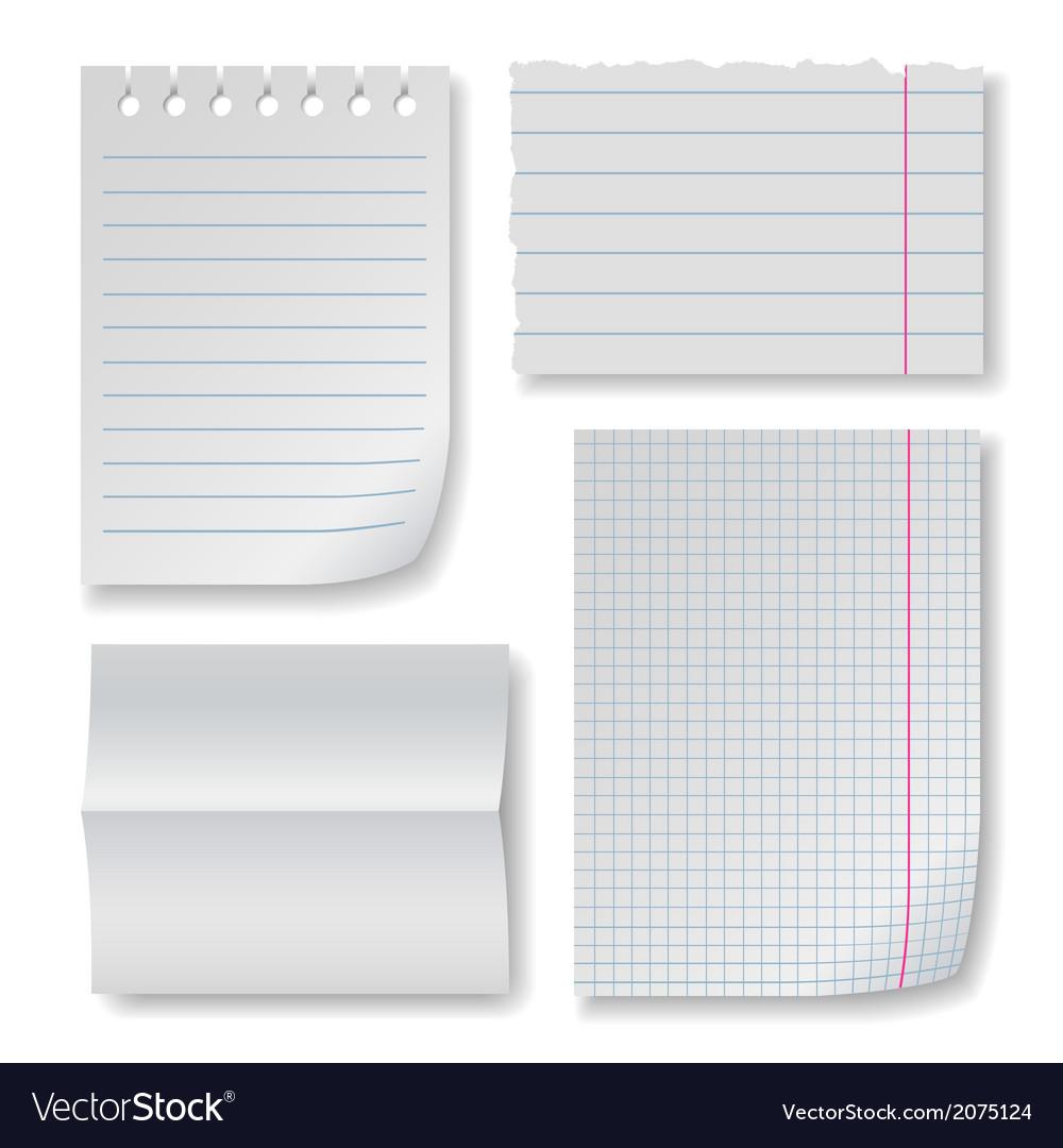 Note paper set vector | Price: 1 Credit (USD $1)