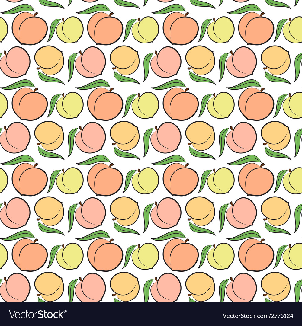 Peach pattern vector