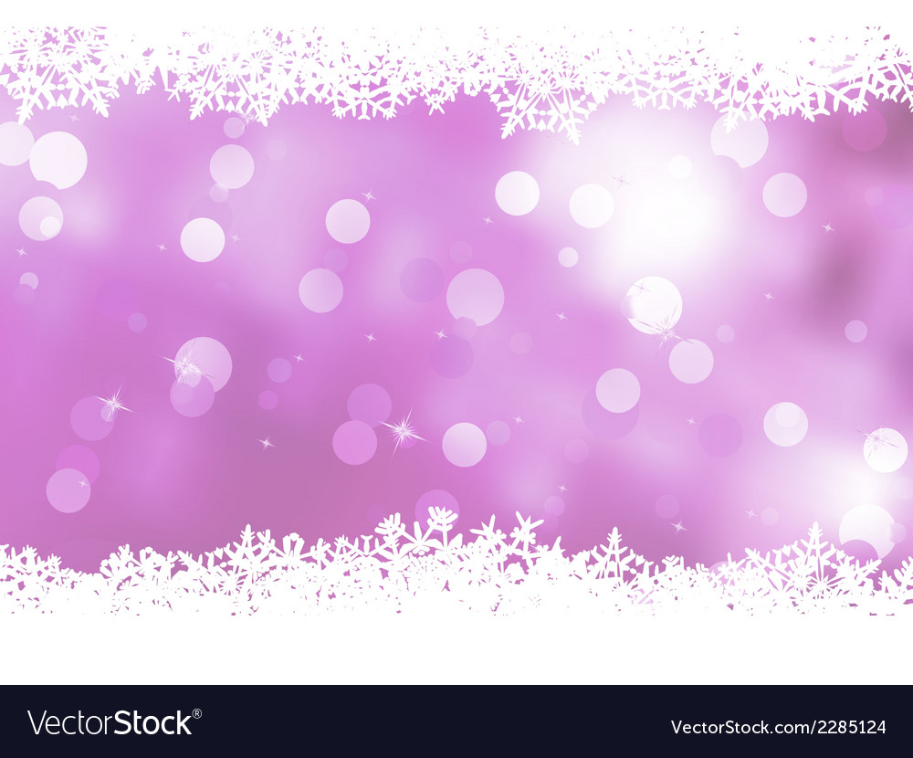Pink background with snowflakes eps 8 vector | Price: 1 Credit (USD $1)