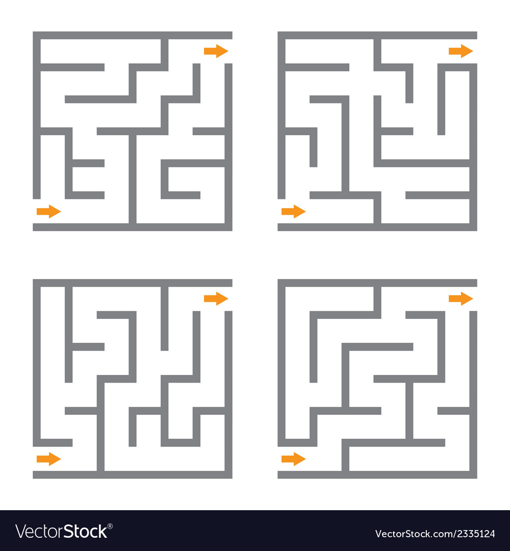 Set of mazes vector | Price: 1 Credit (USD $1)