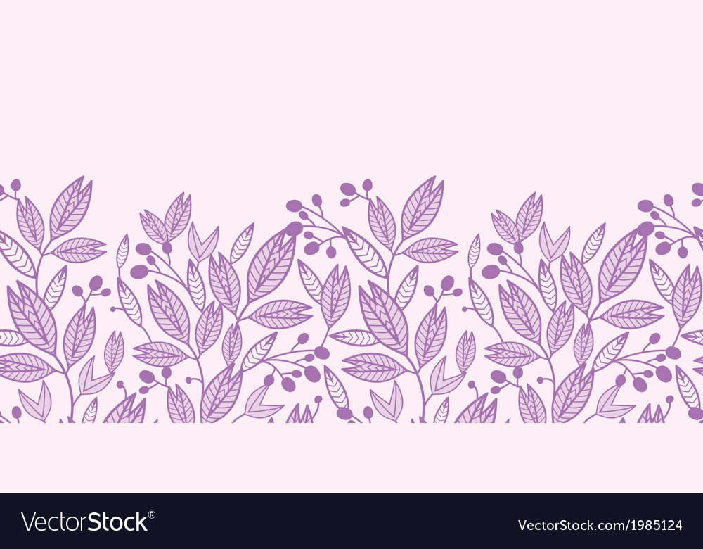 Striped leaves and berries horizontal seamless vector | Price: 1 Credit (USD $1)