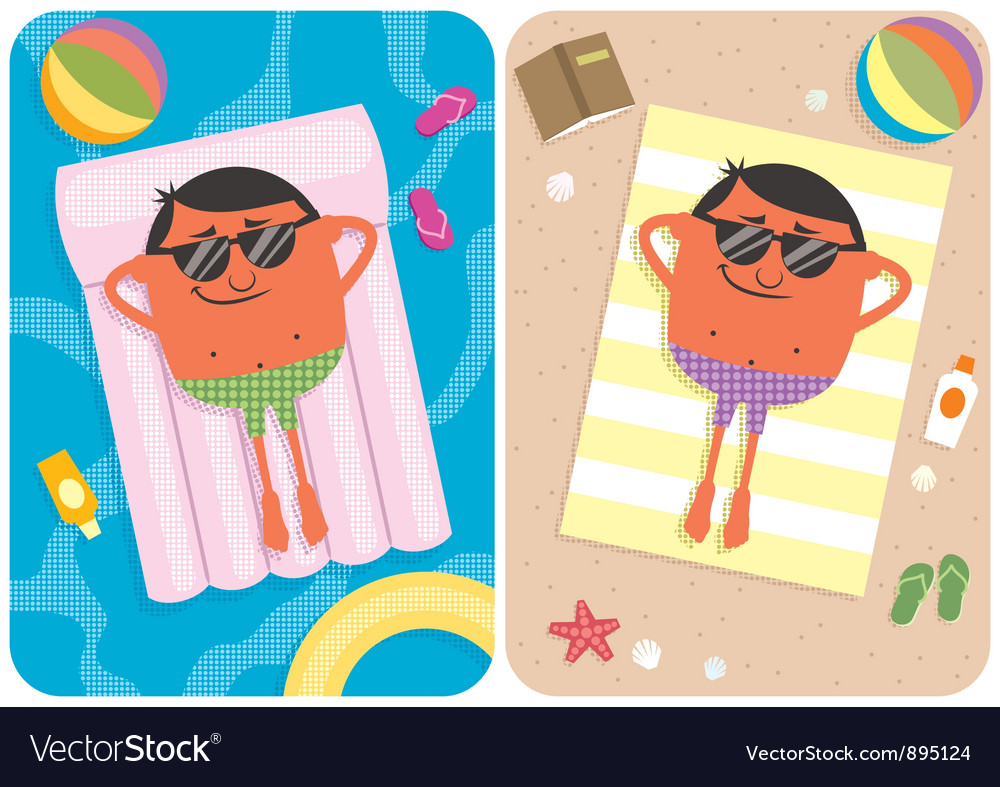 Summer vacation vector | Price: 3 Credit (USD $3)