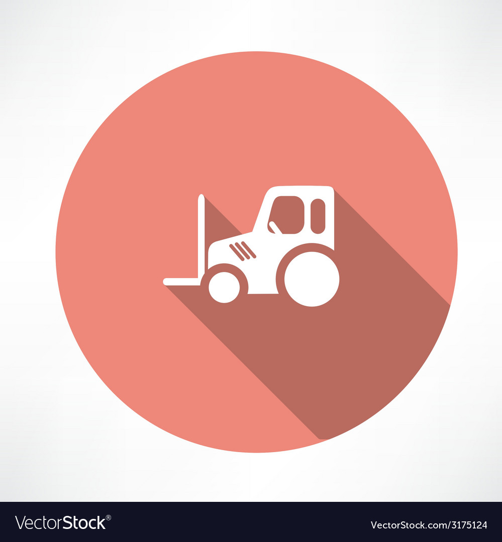Tractor pallet icon vector | Price: 1 Credit (USD $1)