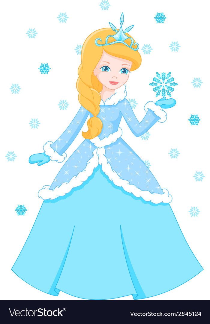 Winter princess vector | Price: 1 Credit (USD $1)
