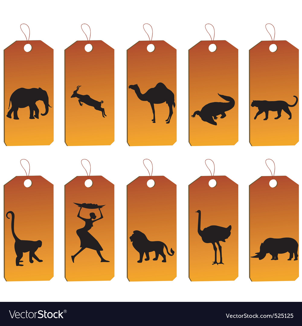 African price tags vector | Price: 1 Credit (USD $1)
