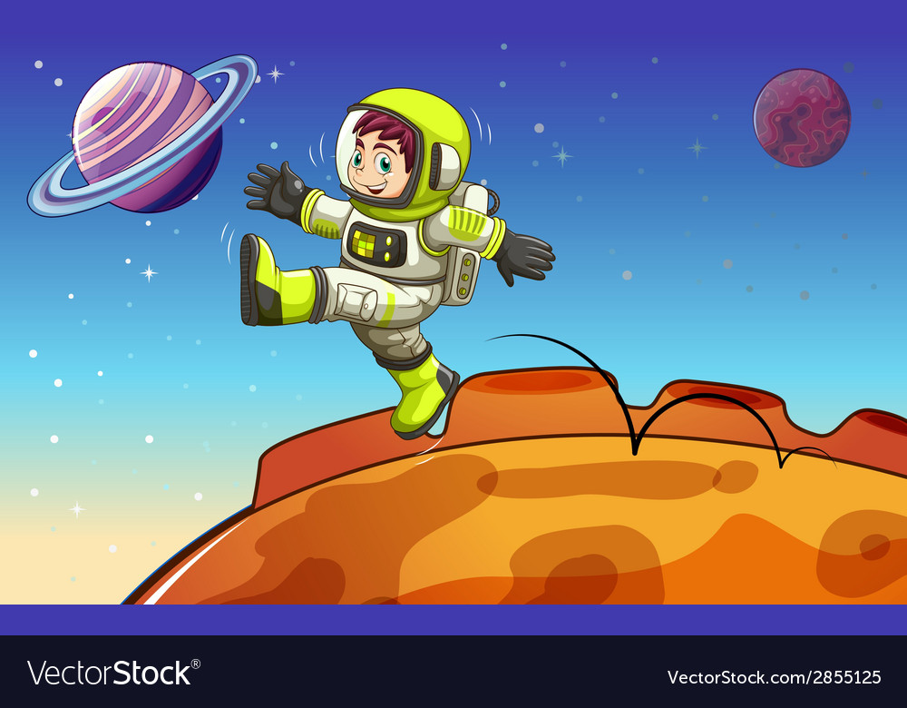 An astronaut in the outerspace vector | Price: 1 Credit (USD $1)