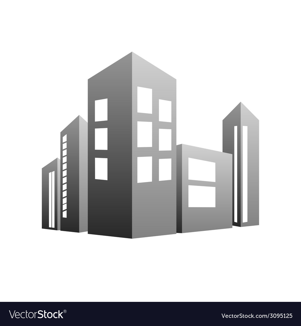 Building grey vector | Price: 1 Credit (USD $1)