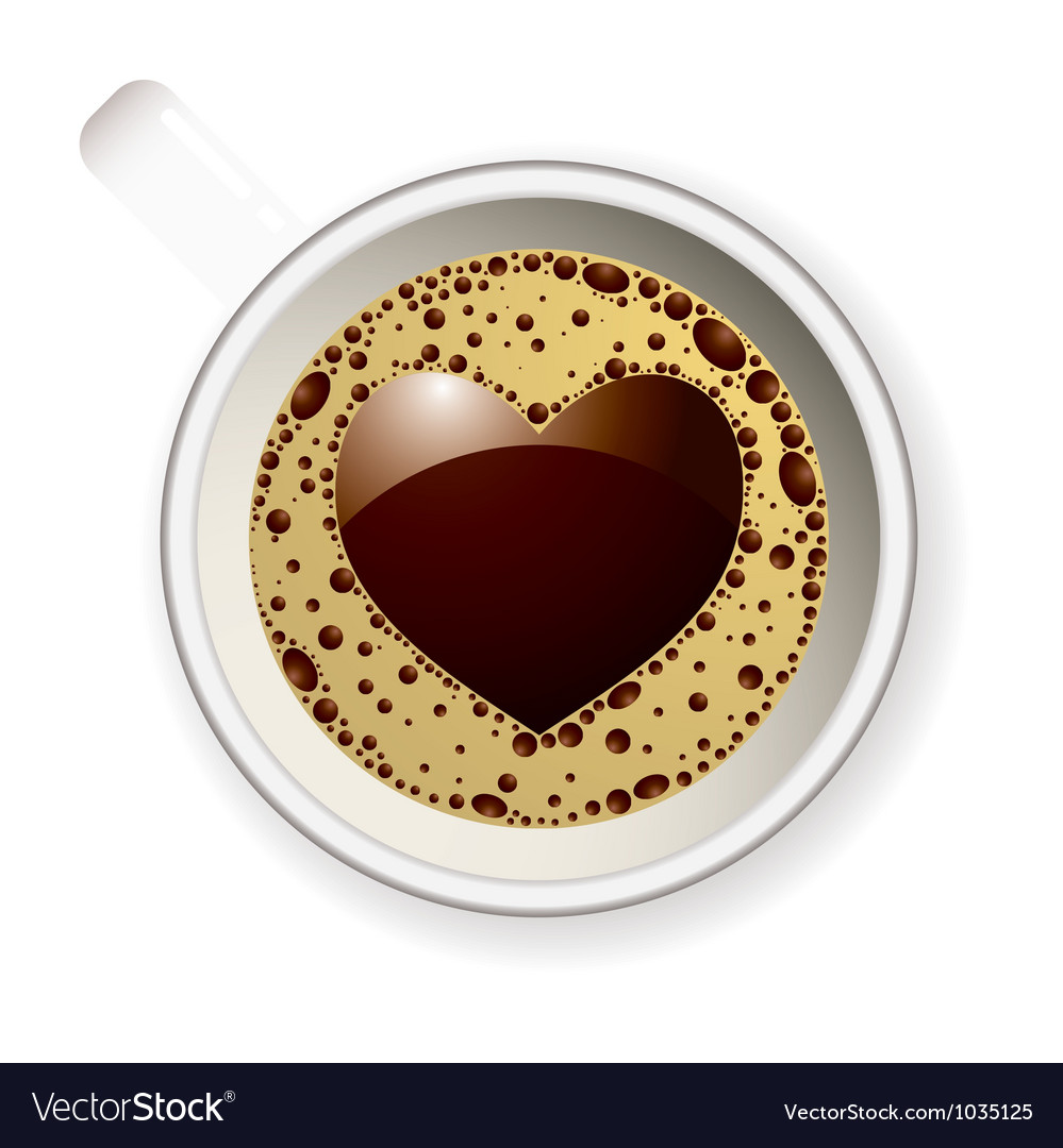 Coffee cup love heart vector | Price: 1 Credit (USD $1)