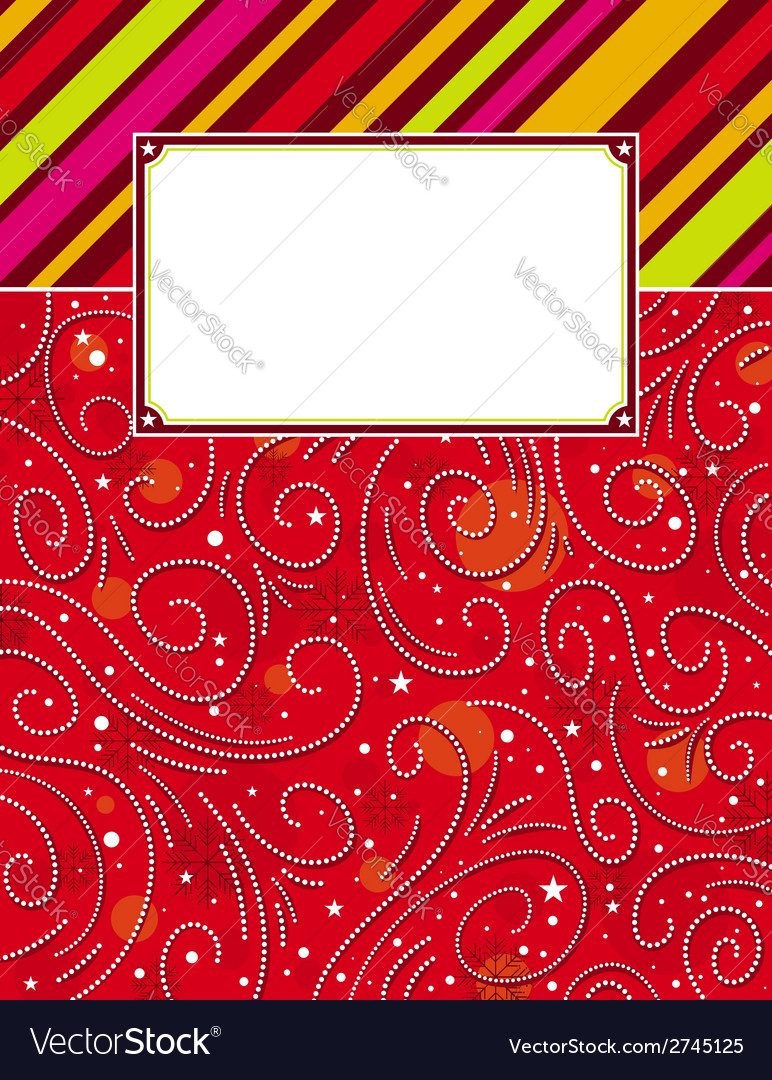 Color background with christmas elements vector | Price: 1 Credit (USD $1)
