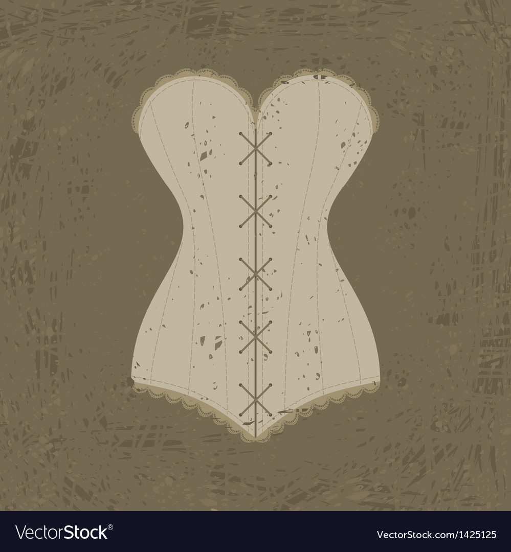 Corset with lacing vector | Price: 1 Credit (USD $1)