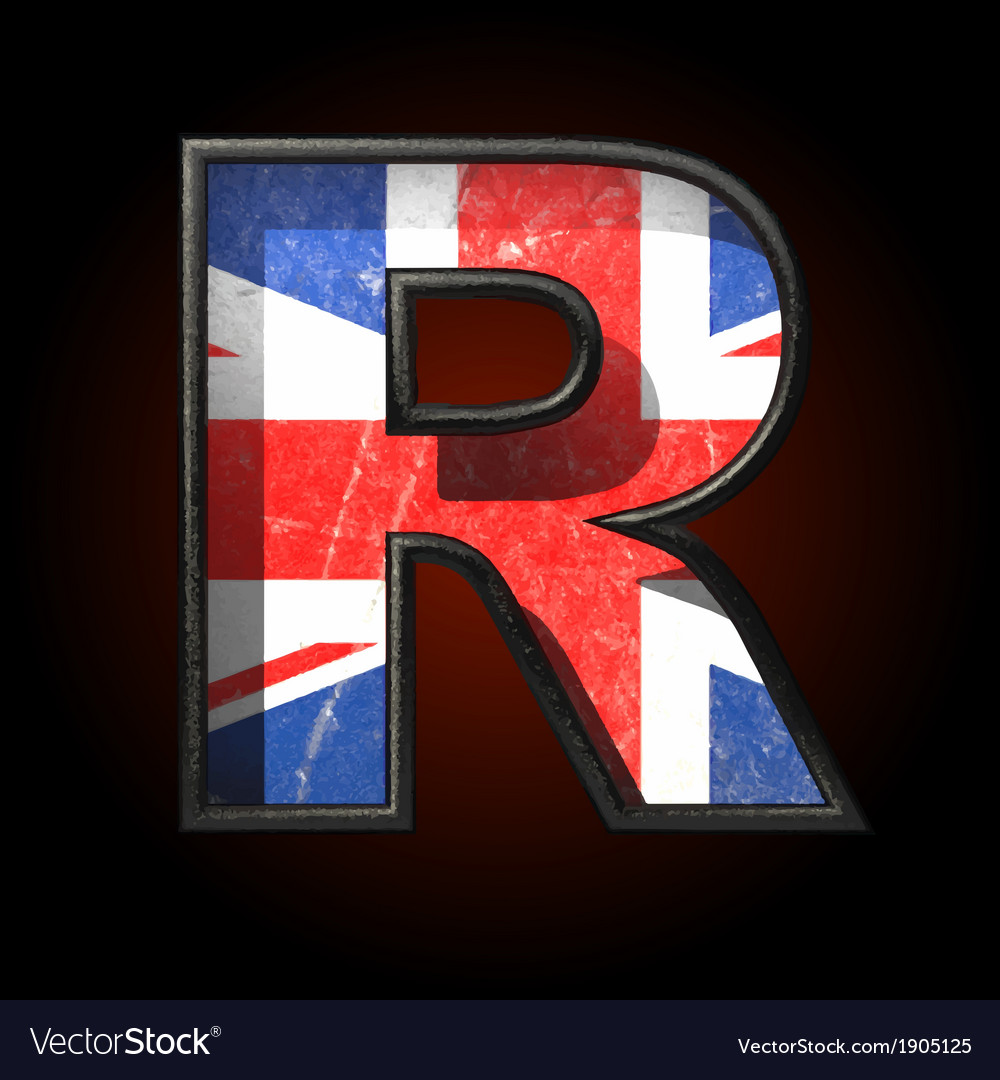 Great britain cutted figure r vector | Price: 1 Credit (USD $1)