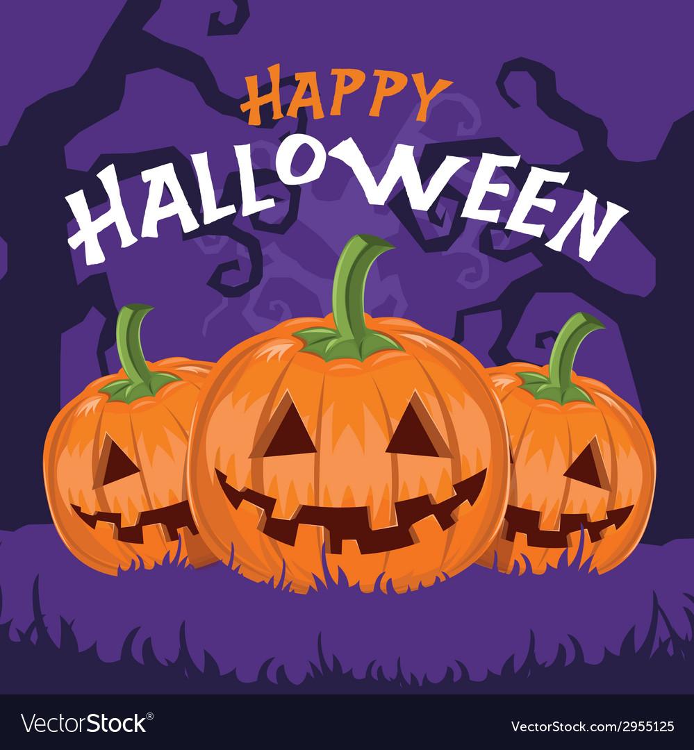 Happy halloween pumpkins vector | Price: 1 Credit (USD $1)