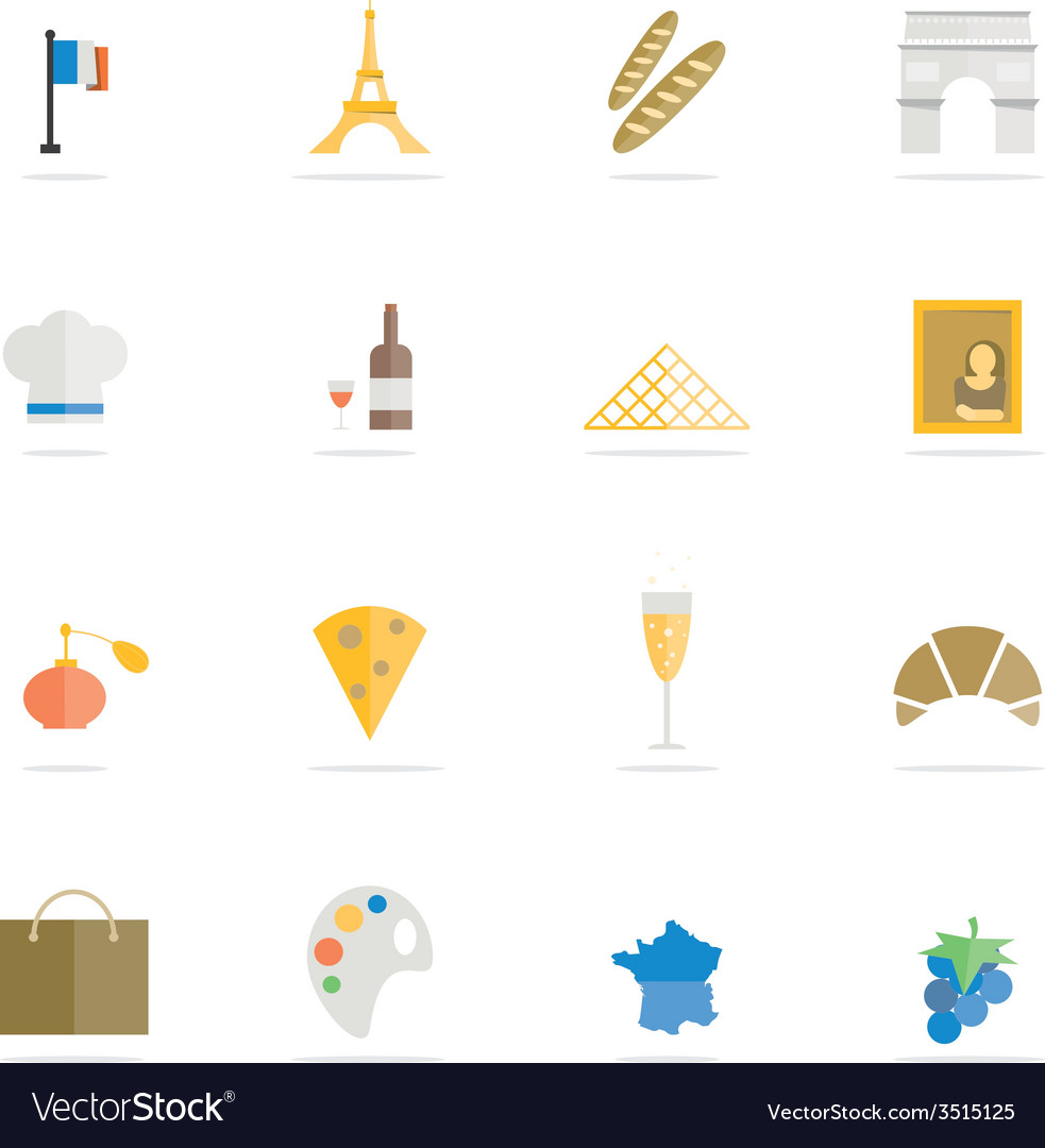 Icon france vector | Price: 1 Credit (USD $1)