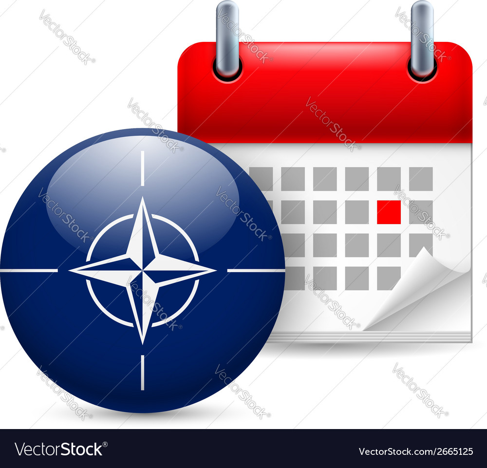 Icon of nato flag and calendar vector | Price: 1 Credit (USD $1)