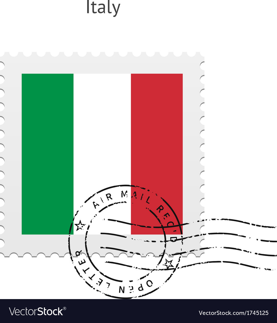 Italy flag postage stamp vector | Price: 1 Credit (USD $1)