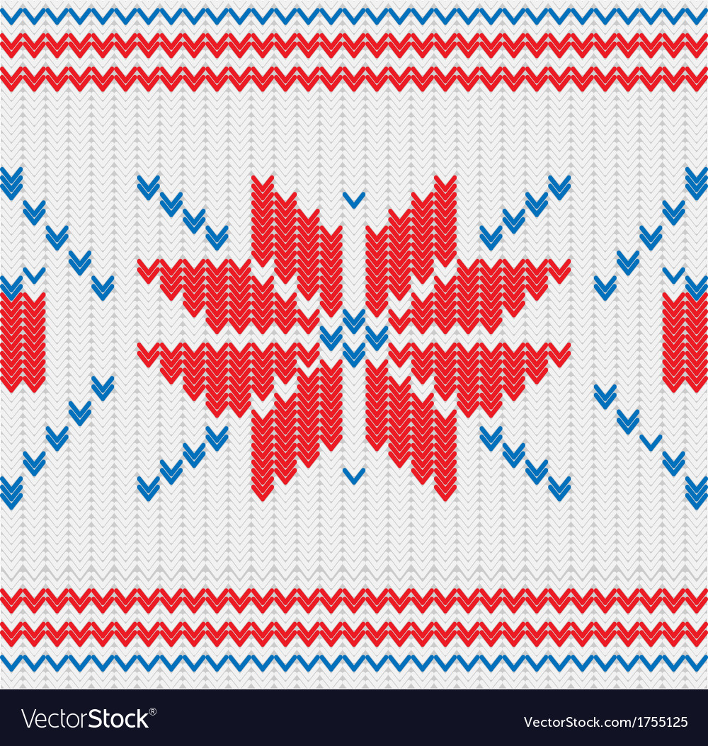 Knitted pattern with a snowflakes vector   Price: 1 Credit (USD $1)