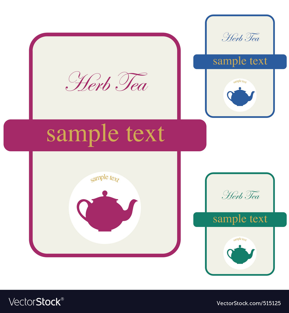 Label herb tea vector | Price: 1 Credit (USD $1)