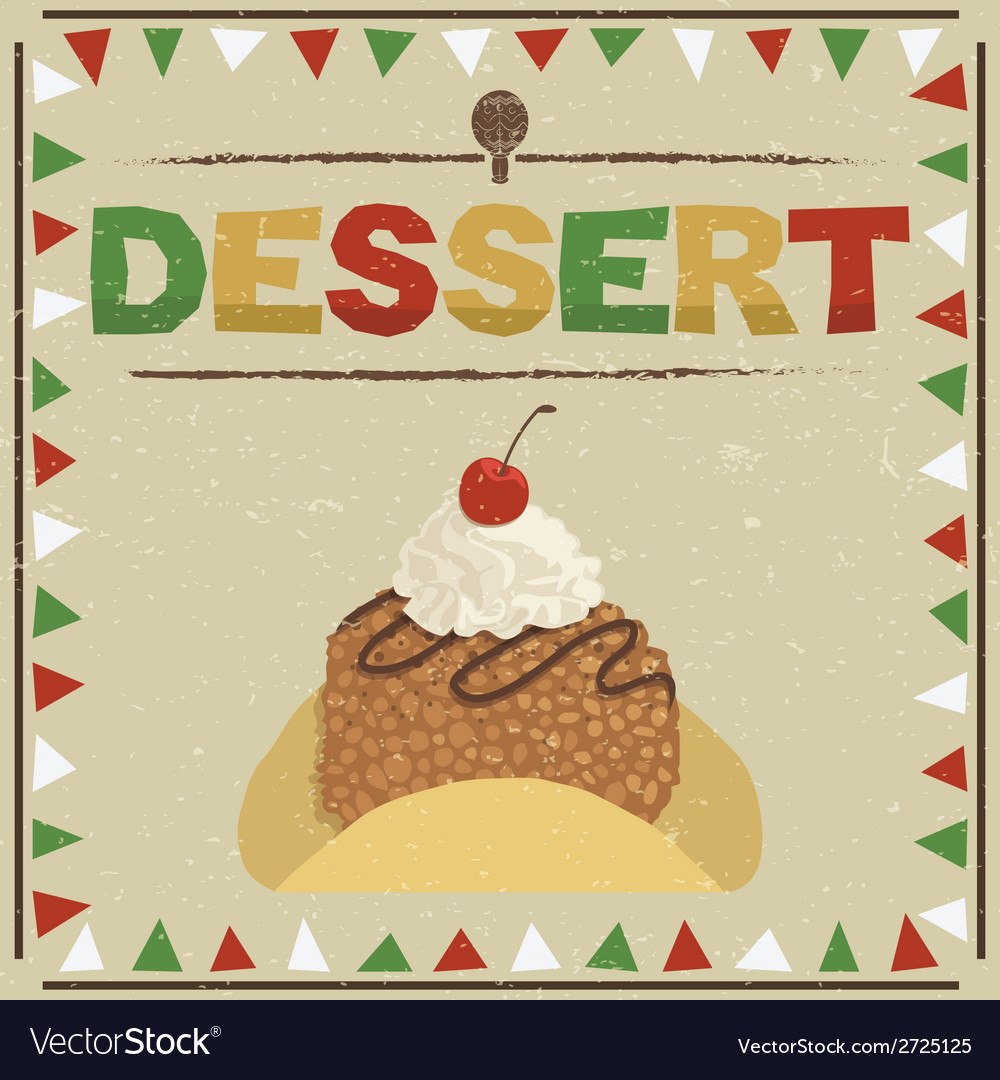 Mexican dessert vector | Price: 1 Credit (USD $1)