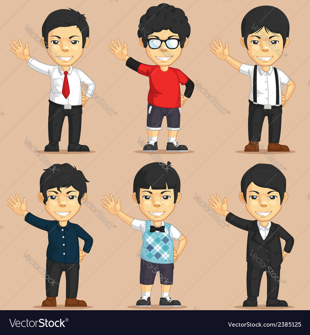 Office worker charater set vector | Price: 1 Credit (USD $1)