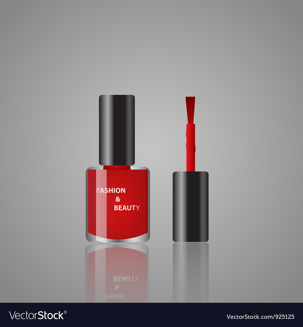 Red nail polish vector | Price: 3 Credit (USD $3)