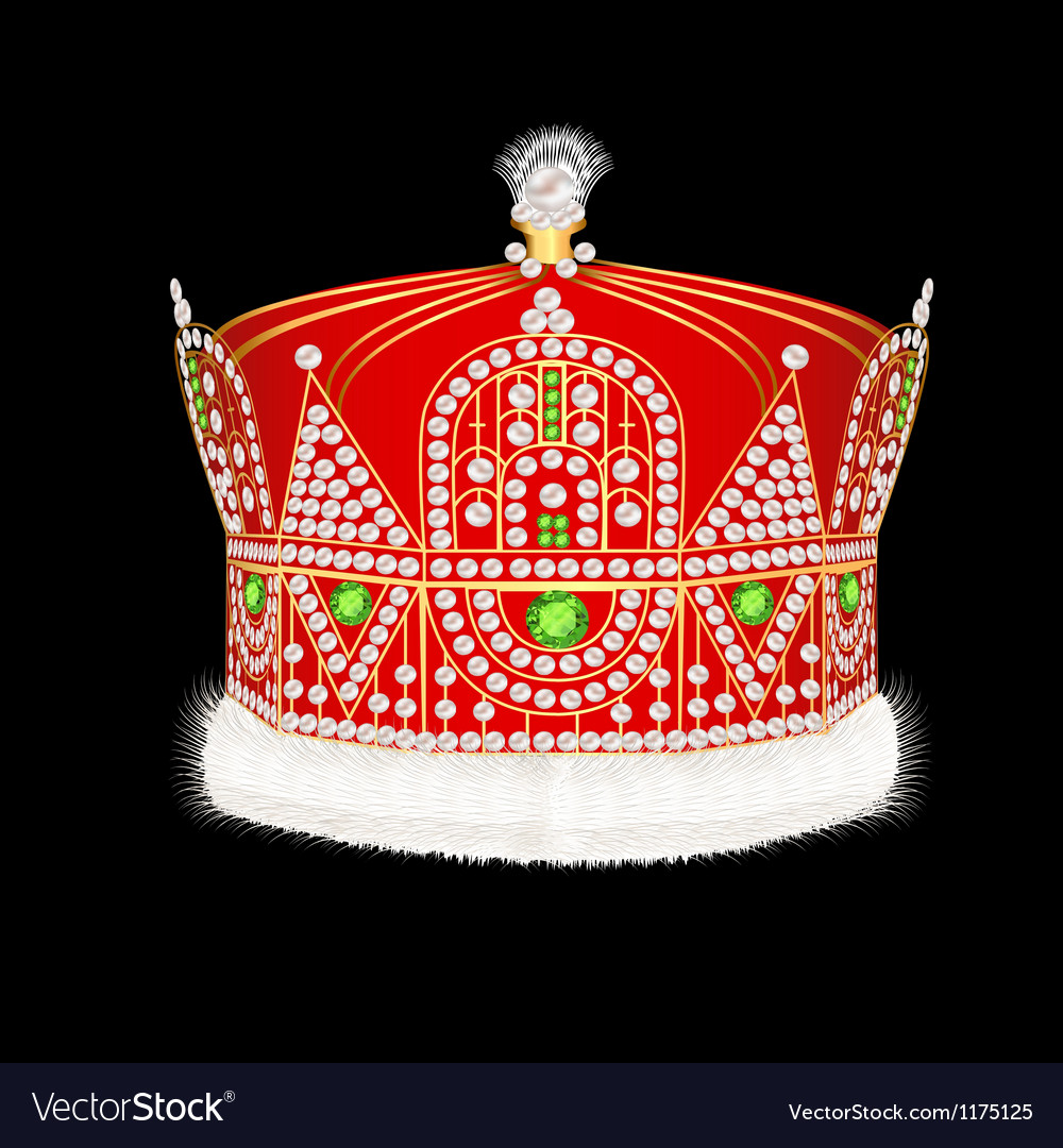 Royal gold crown with ornament and pearls vector | Price: 1 Credit (USD $1)