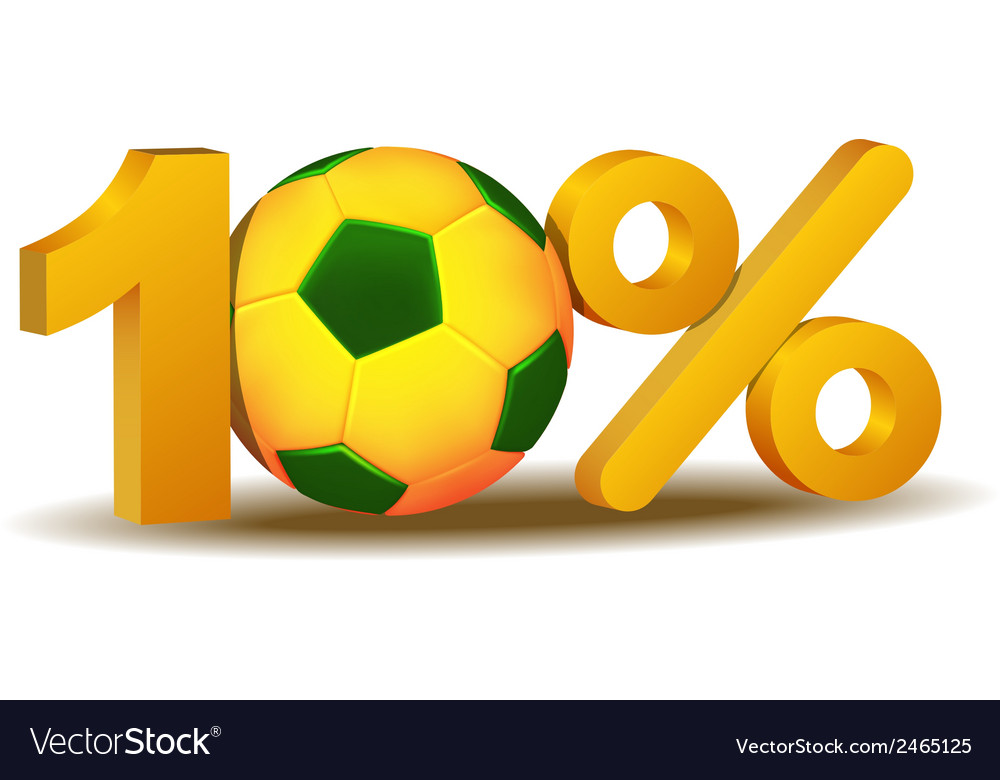 Ten percent discount icon vector | Price: 1 Credit (USD $1)