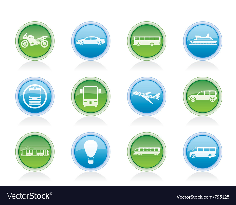 Travel and transportation of people icons vector | Price: 1 Credit (USD $1)