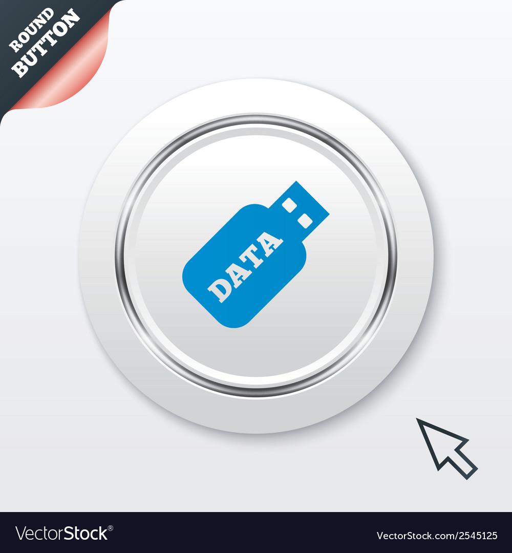 Usb stick sign icon usb flash drive button vector   Price: 1 Credit (USD $1)