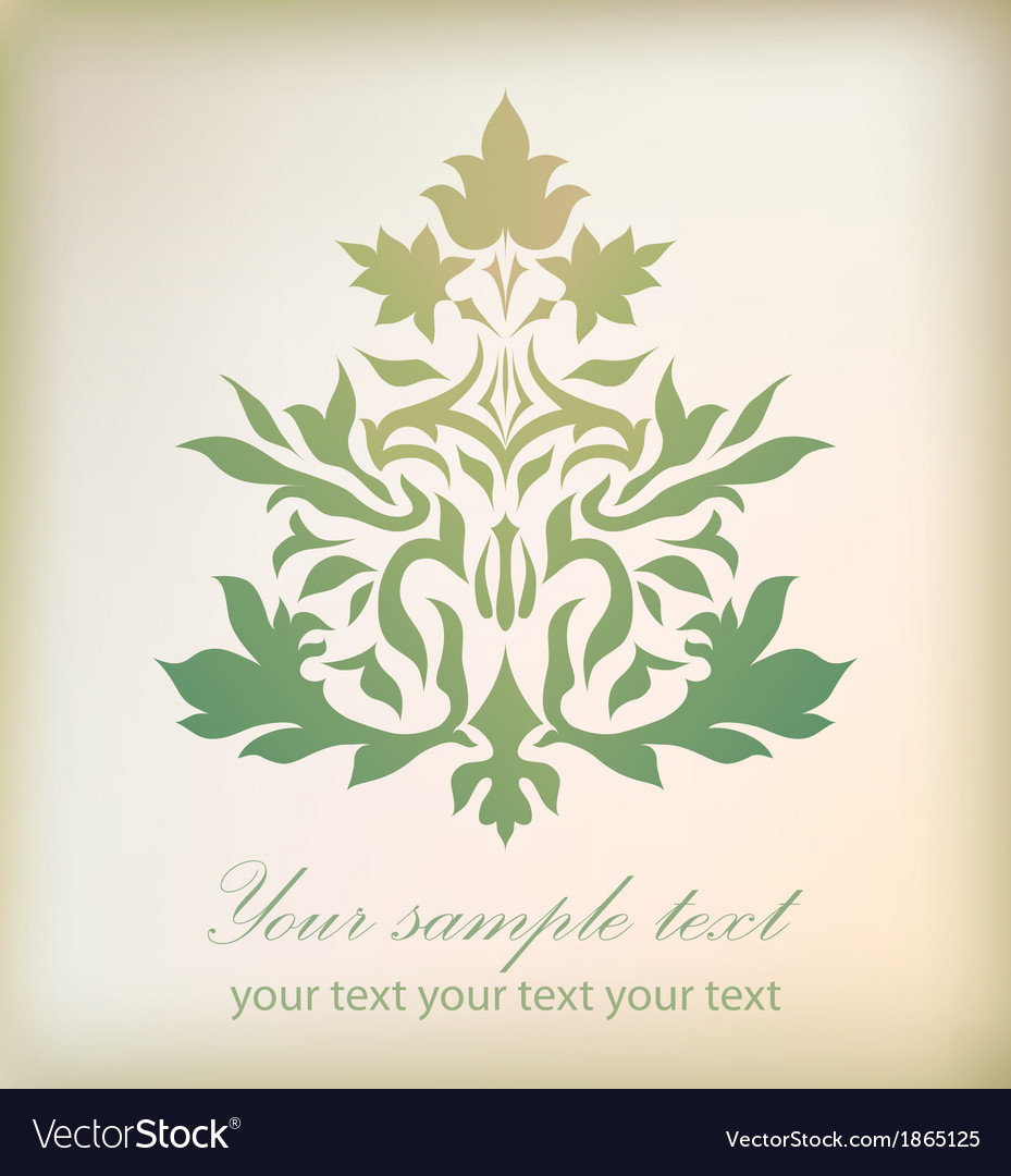 Vintage floral damask ornament vector | Price: 1 Credit (USD $1)