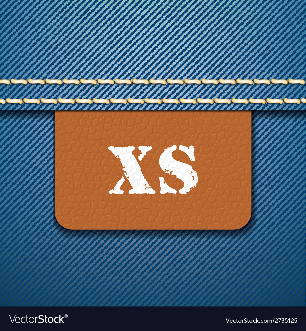 Xs size clothing label - vector | Price: 1 Credit (USD $1)
