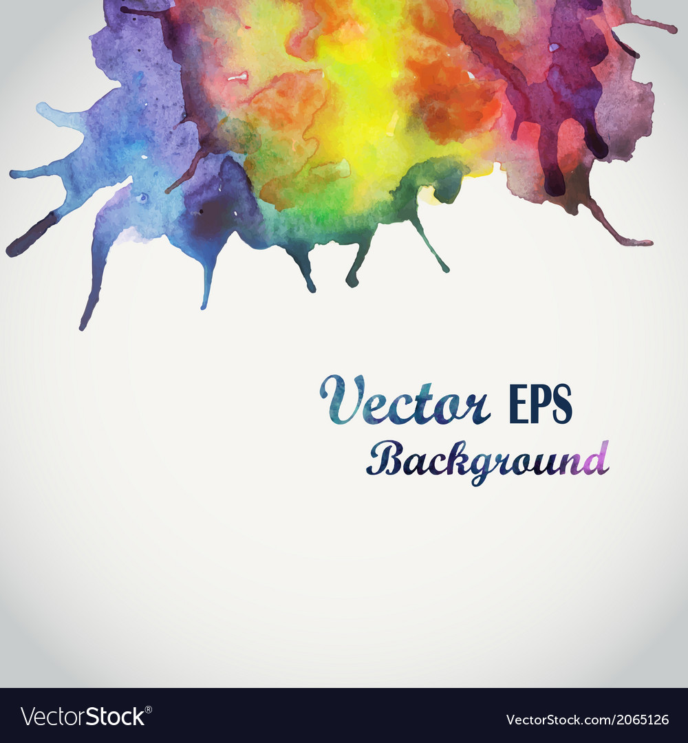 Abstract hand drawn watercolor background s vector | Price: 1 Credit (USD $1)