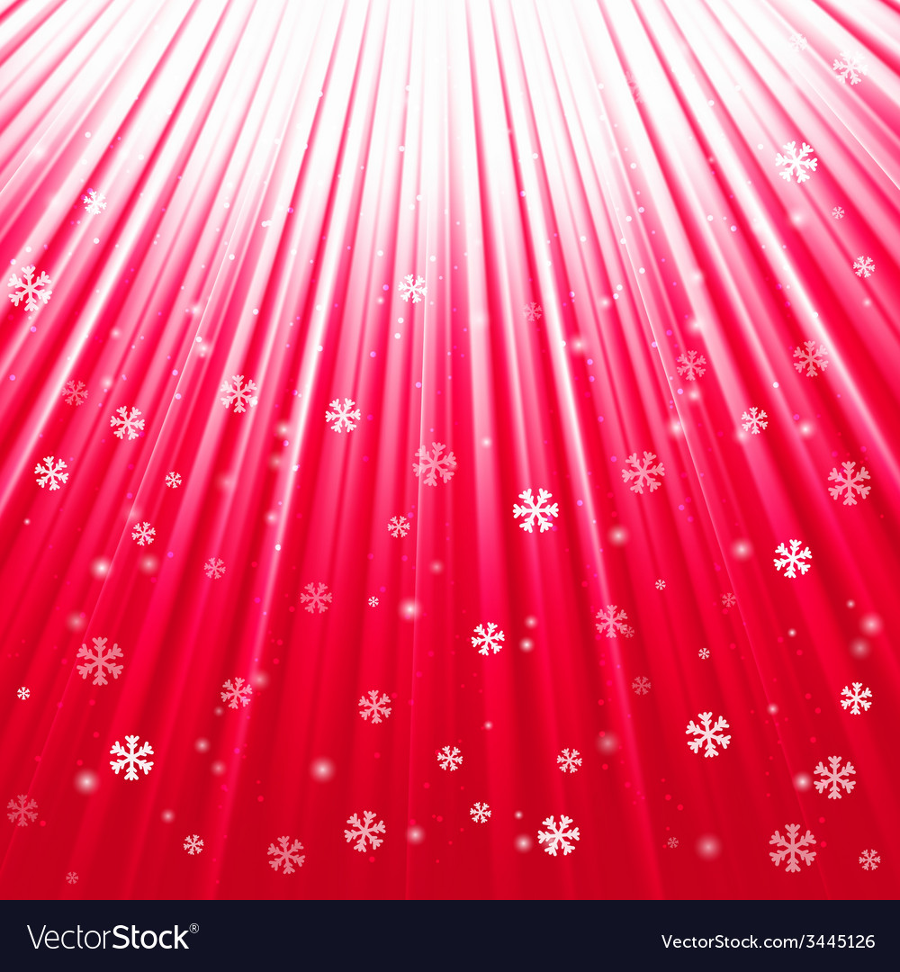 Christmas texture with shining snowflakes and rays vector | Price: 1 Credit (USD $1)