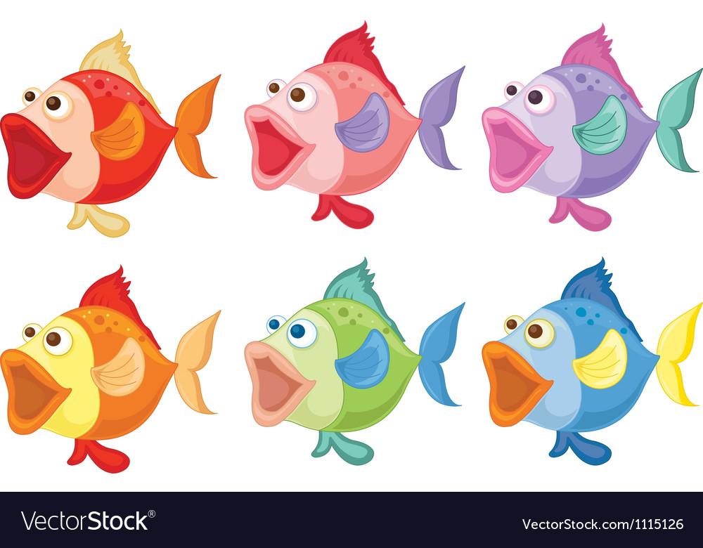 Coloured fish vector   Price: 1 Credit (USD $1)