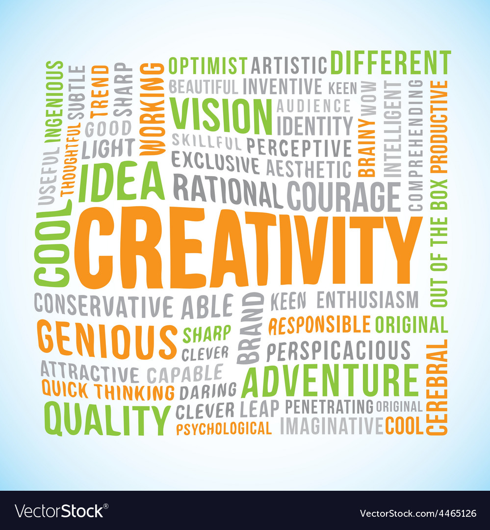 Creativity word vector | Price: 1 Credit (USD $1)