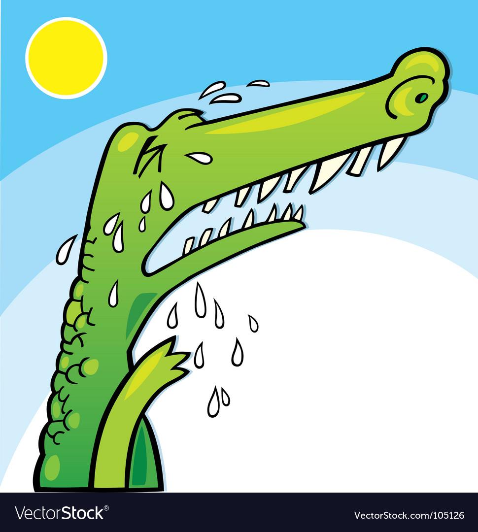 Crying crocodile vector   Price: 1 Credit (USD $1)