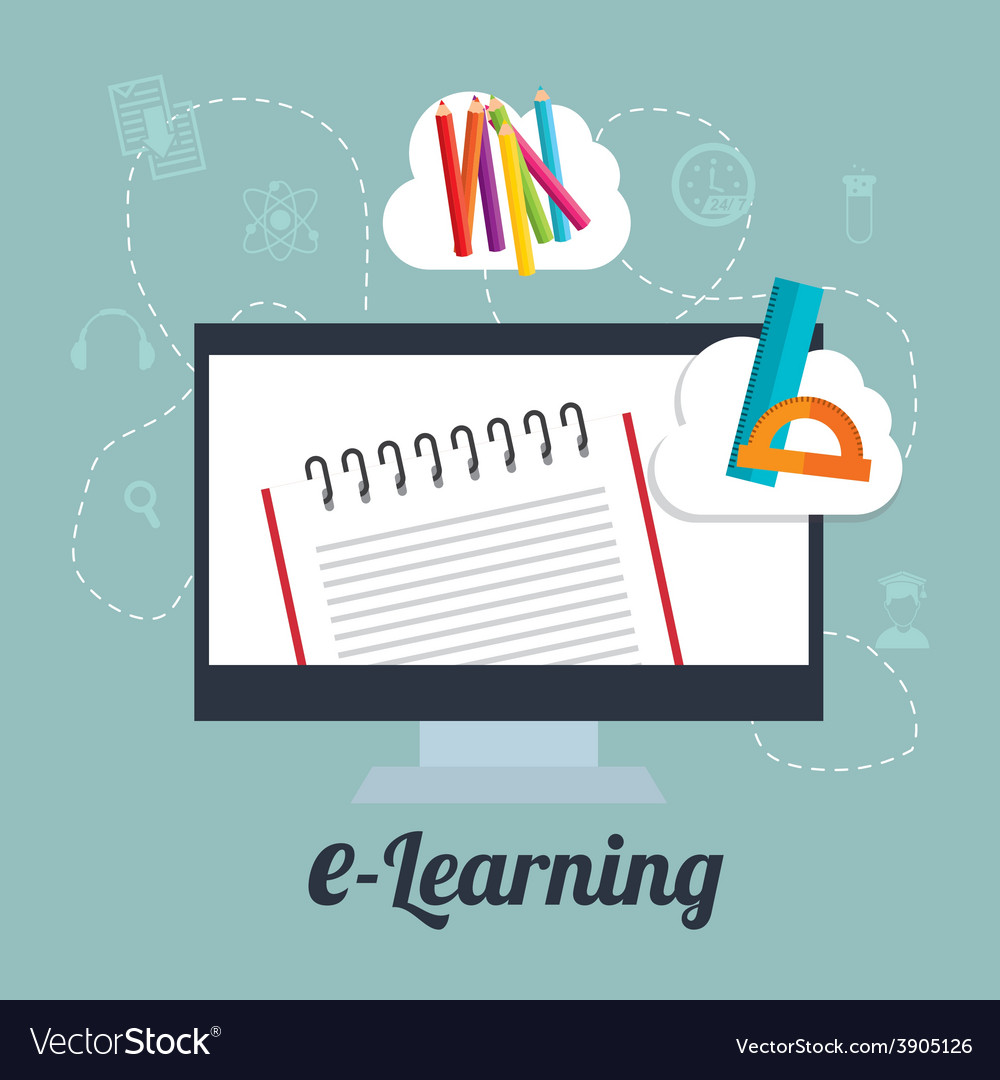 E-learning design vector | Price: 3 Credit (USD $3)