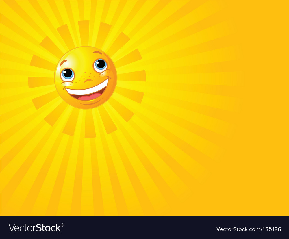 Happy smiling sun summer background vector | Price: 1 Credit (USD $1)