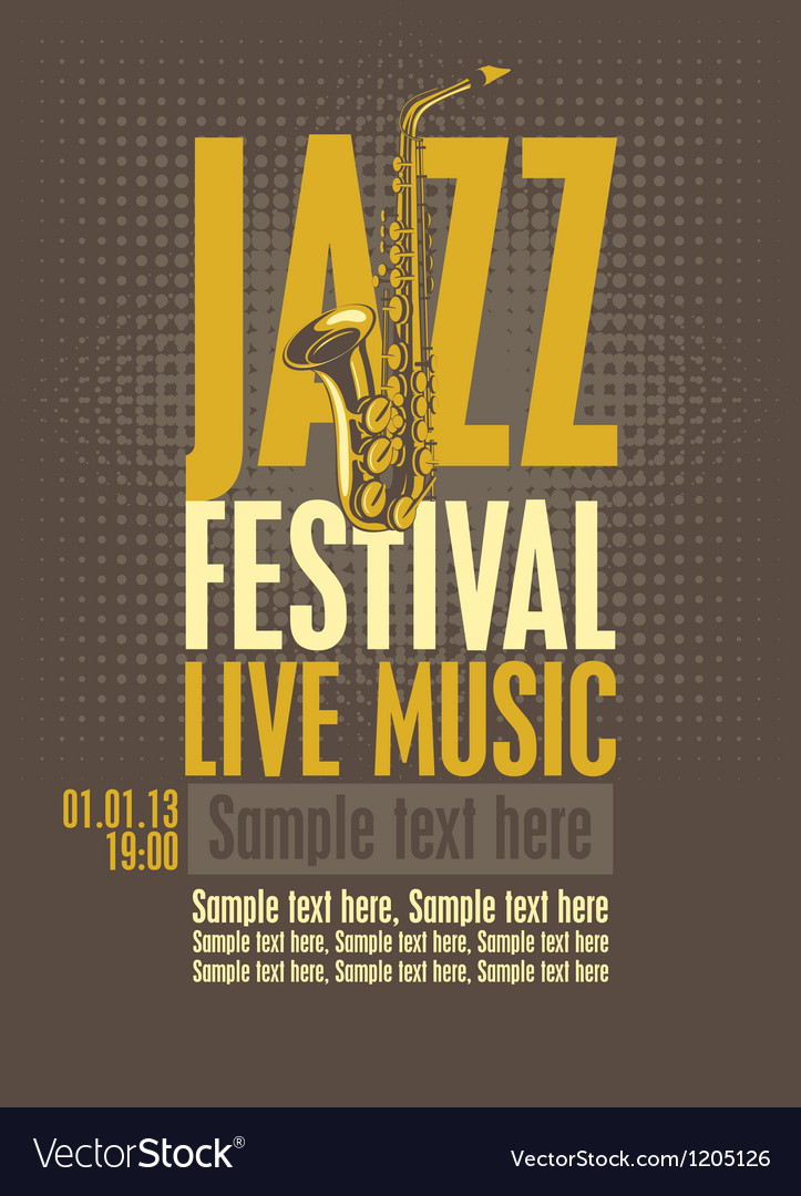 Jazz festival vector | Price: 3 Credit (USD $3)