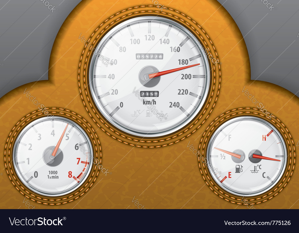 Leather car dashboard vector | Price: 3 Credit (USD $3)
