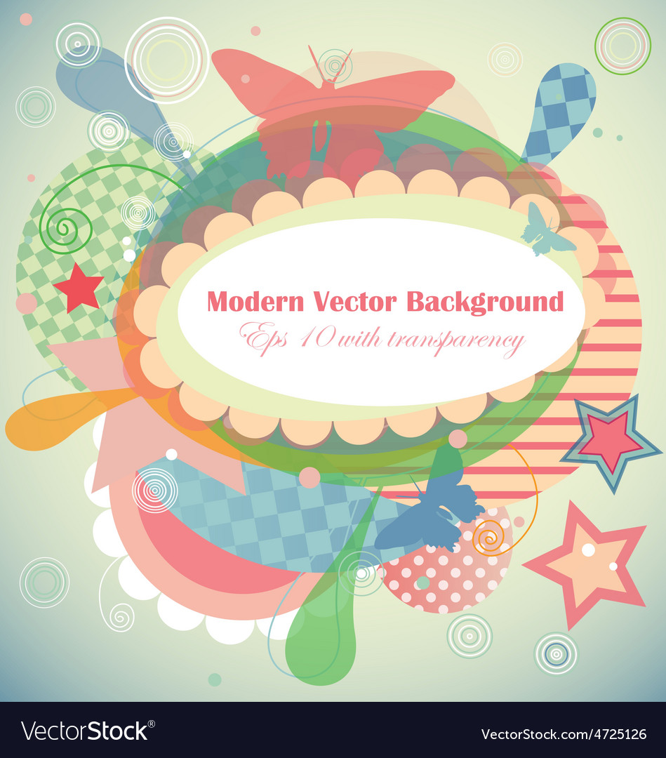 Modern frame with different shapes and patterns vector | Price: 1 Credit (USD $1)
