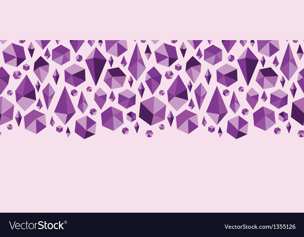 Purple geometric jewel shapes horizontal seamless vector | Price: 1 Credit (USD $1)