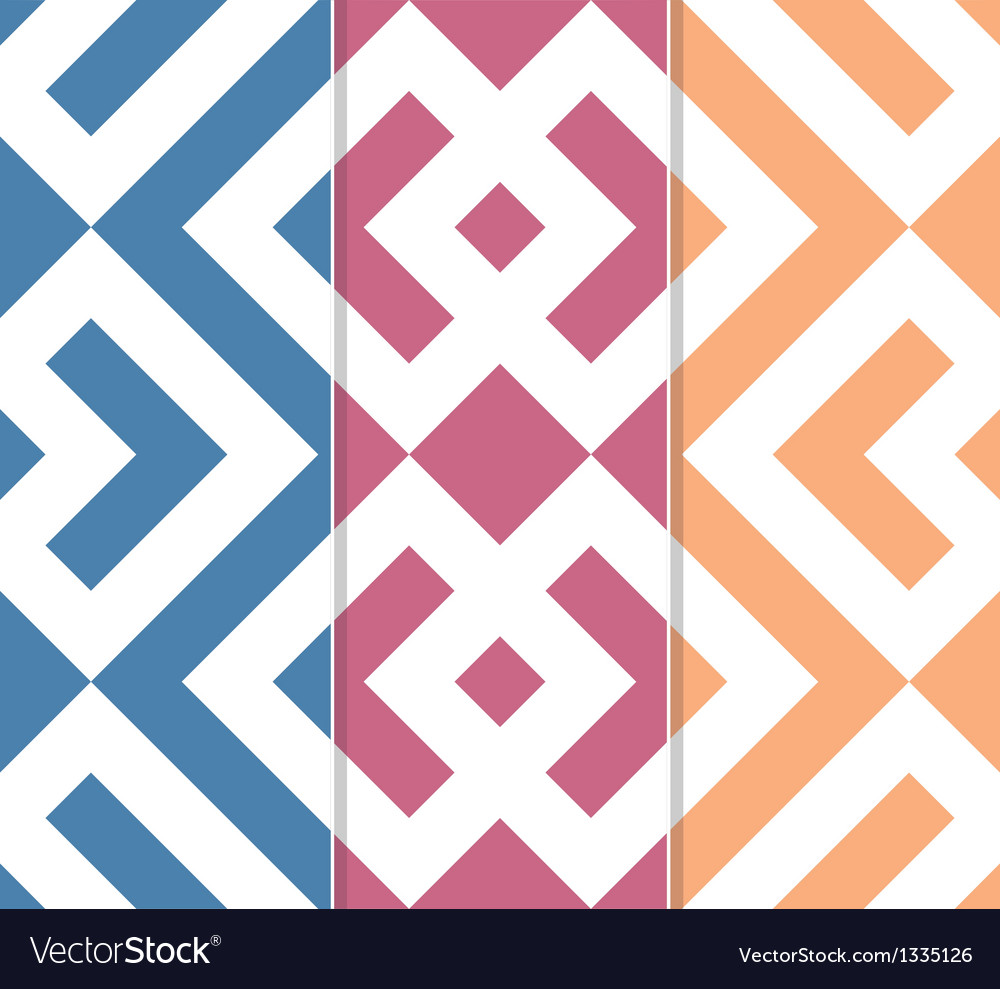 Seamless geometric background set vector | Price: 1 Credit (USD $1)