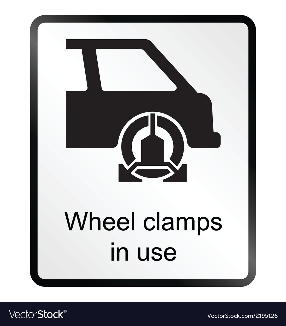 Wheel clamp information sign vector | Price: 1 Credit (USD $1)