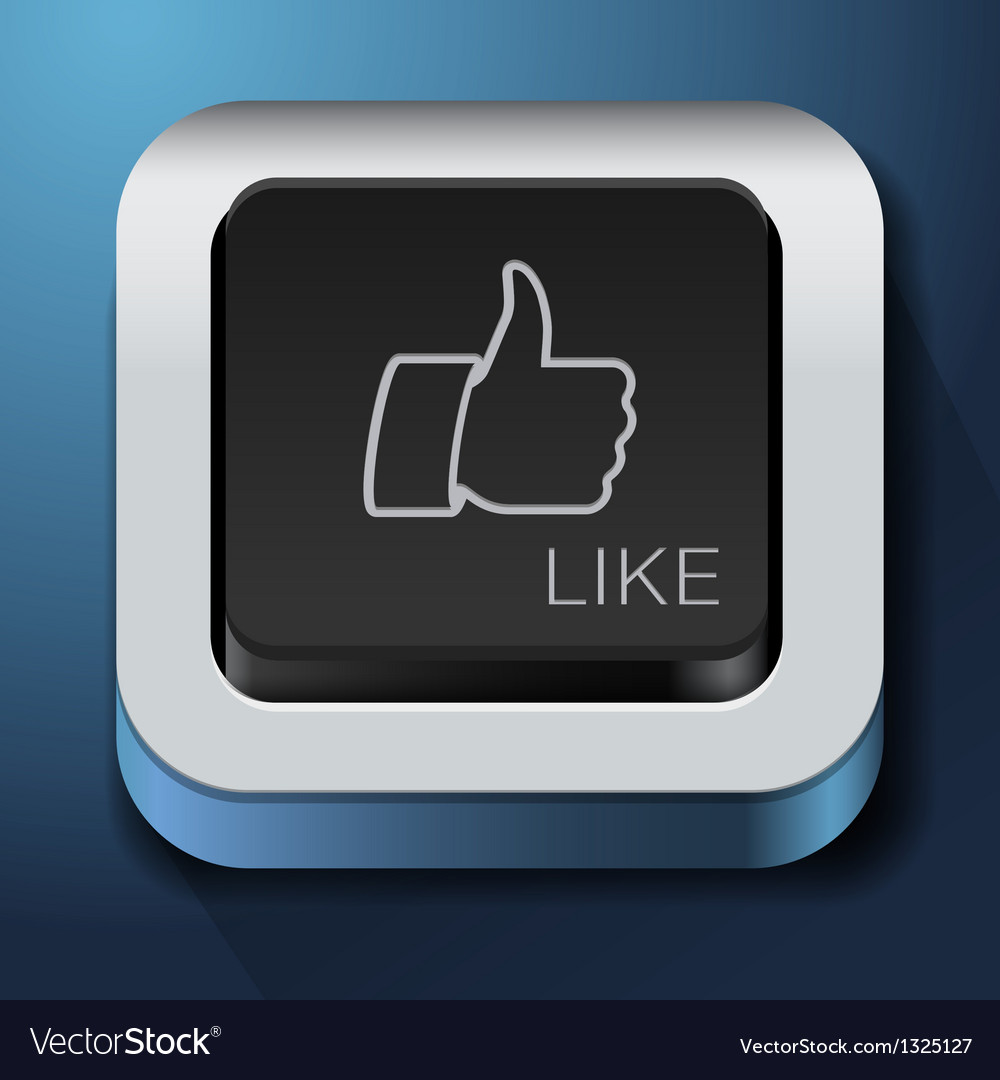 App design like icon - thumbs up button vector | Price: 1 Credit (USD $1)